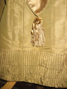 The Silk Tassels, hem pleating, and verticle pleating