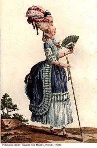 Polonaise of Marie Antoinette, with a back pulled up from the dirt