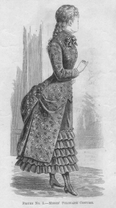 A Sporty Polonaise from 1883. The styling here was the most common.